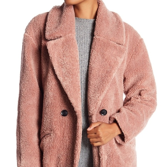 c3bc47ccd2b Lucky Brand Missy Teddy Bear Faux Fur Jacket